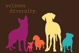 Diversity - Darker Version Metalldrucke von  Dog is Good
