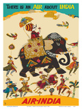 Air India - There is an Air about India - Maharaja in Howdah (Carriage) on Regal Elephant Posters por  Unknown