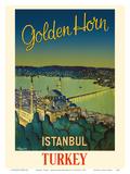Istanbul, Turkey - Golden Horn Waterway - Mystique Sleymaniye Mosque Kunstdrucke von N. Erg?ver