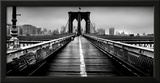 Fog over the Brooklyn Bridge, Brooklyn, Manhattan, New York City, New York State, USA Framed Photographic Print