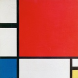 Composition II in Red, Blue, and Yellow Plakat av Piet Mondrian
