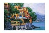 Portofino Villa Poster di Howard Behrens