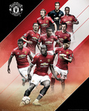 Manchester United - 17/18 Pôsteres