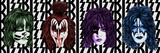 KISS - Faces with Logo Print