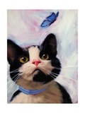 Cat and Butterfly Posters af Diane Hoeptner