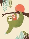 Mama Sloth Giclée-Premiumdruck von Jay Fleck