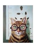 Feline Eye Exam Prints by Lucia Heffernan