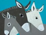 Donkey Family Giclée-Premiumdruck von Casey Craig