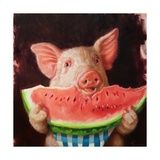 Pig Out Art by Lucia Heffernan
