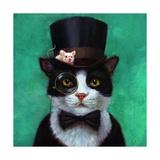 Tuxedo Cat Print by Lucia Heffernan