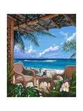 Veranda im Paradies Kunstdruck von Scott Westmoreland