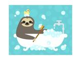 Scrubbing Bubbles Sloth Láminas por Nancy Lee
