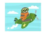 Airborne Sloth Láminas por Nancy Lee