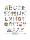 Alphablitz Premium Giclee-trykk av Doug Keith