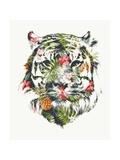 Tropical Tiger Print by Robert Farkas