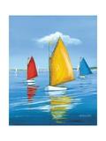 Newport Regatta Poster av Sally Caldwell Fisher