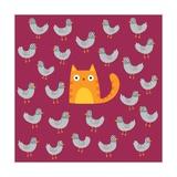Cat amongst the Pigeons Posters por Michael Buxton