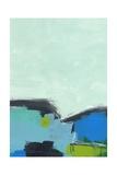 Paysage No. 98 (Poster, Art abstrait, Bleu, Vert, Noir) Affiches par Jan Weiss