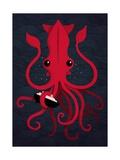 Kraken Attaken Posters por Michael Buxton