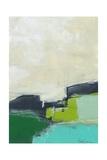 Paysage No. 99 (Poster, Art abstrait, Bleu, Vert, Noir, Beige) Affiche par Jan Weiss