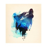 Alone As a Wolf Poster af Robert Farkas