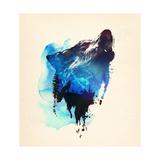 Alone As a Wolf Prints by Robert Farkas