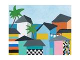 Beachfront Property 3 Kunstdruck von Jan Weiss