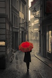 Red Rain Photographic Print by Stefano Corso