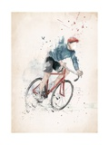 I Want to Ride My Bicycle Poster von Balazs Solti