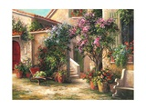 Garden Courtyard Posters by Art Fronckowiak