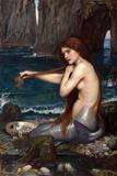 A Mermaid Posters af John William Waterhouse
