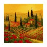 Poppies of Toscano II Art by Art Fronckowiak