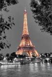 Nuit sur la Seine Fotografie-Druck von Alan Blaustein