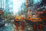 Times Square Reflections Poster di Mark Lague