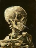Schädel mit brennender Zigarette Kunstdruck von Vincent van Gogh