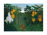 The Repast of the Lion Posters av Henri Rousseau
