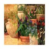 Flower Pots Left Prints by Art Fronckowiak