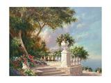 Balcony at Lake Como Art by Art Fronckowiak
