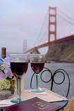 Dream Cafe Golden Gate Bridge 39 Reproduction photographique par Alan Blaustein