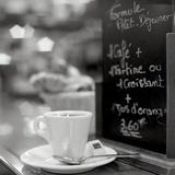 Café, Champs-Élysées Reproduction photographique par Alan Blaustein