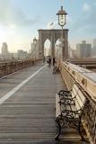 Brooklyn Bridge Walkway No. 2 Reproduction photographique par Alan Blaustein