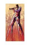 Trumpet Solo Poster av Monica Stewart
