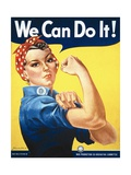 We Can Do It! (Rosie the Riveter) Giclée-Premiumdruck von J. Howard Miller