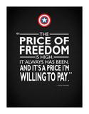 Captain America - Freedom Giclee Print by Mark Rogan