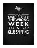 Airplane - Glue Sniffing Impressão giclée por Mark Rogan