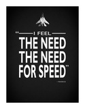 Top Gun The Need For Speed Giclée-tryk af Mark Rogan