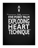 Kill Bill - Exploding Heart Giclee-trykk av Mark Rogan