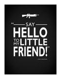 Say Hello Tony Montana Lámina giclée por Mark Rogan