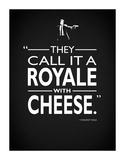 Pulp Fiction - With Cheese Giclee-trykk av Mark Rogan