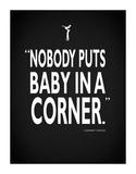 Dirty Dancing Baby InA Corner Impressão giclée por Mark Rogan